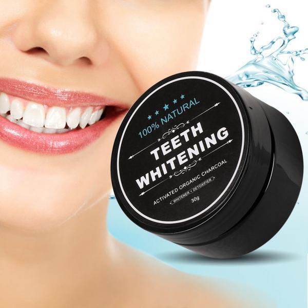 Aktivirano oglje za naravno beljenje zob - ugodno do bleščeče belih zob