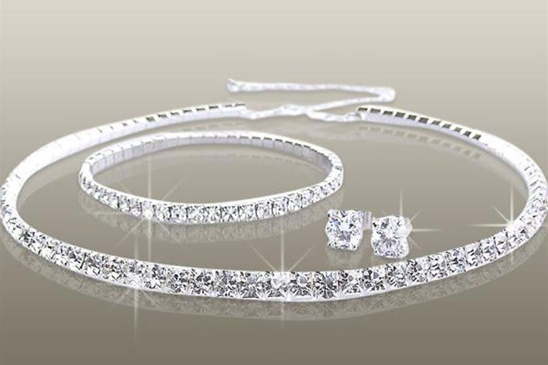 Vrhunski 4-delni set nakita s kristali Swarovski® SW 006